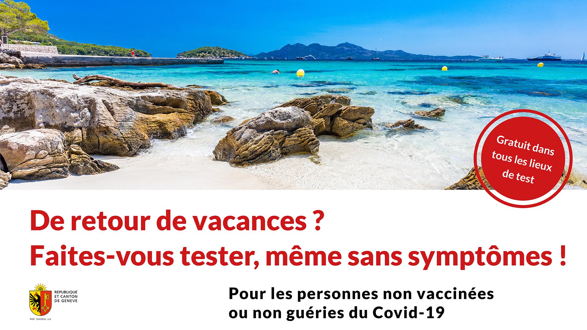 Campagne test au retour des vacances
