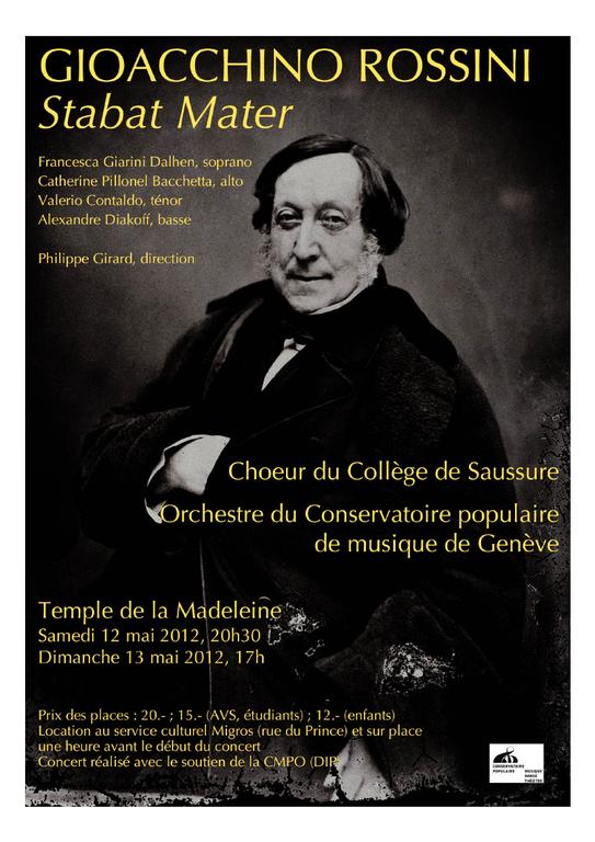 Concert du choeur : Rossini Stabat Mater, mai 2012