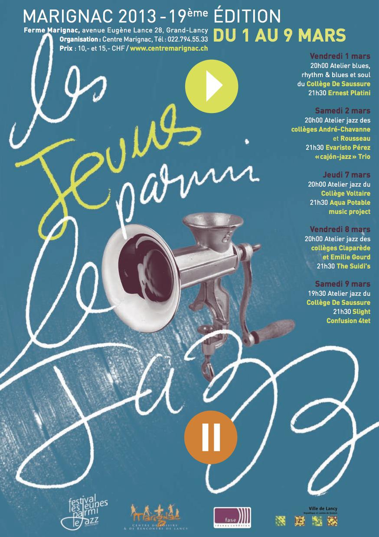 Affiche Jazz à Marignac 2013
